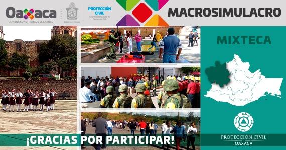 Mixteca gracias por participar en el MACROSIMULACRO 2019