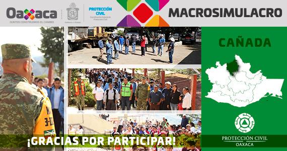 Cañada gracias por participar en el MACROSIMULACRO 2019