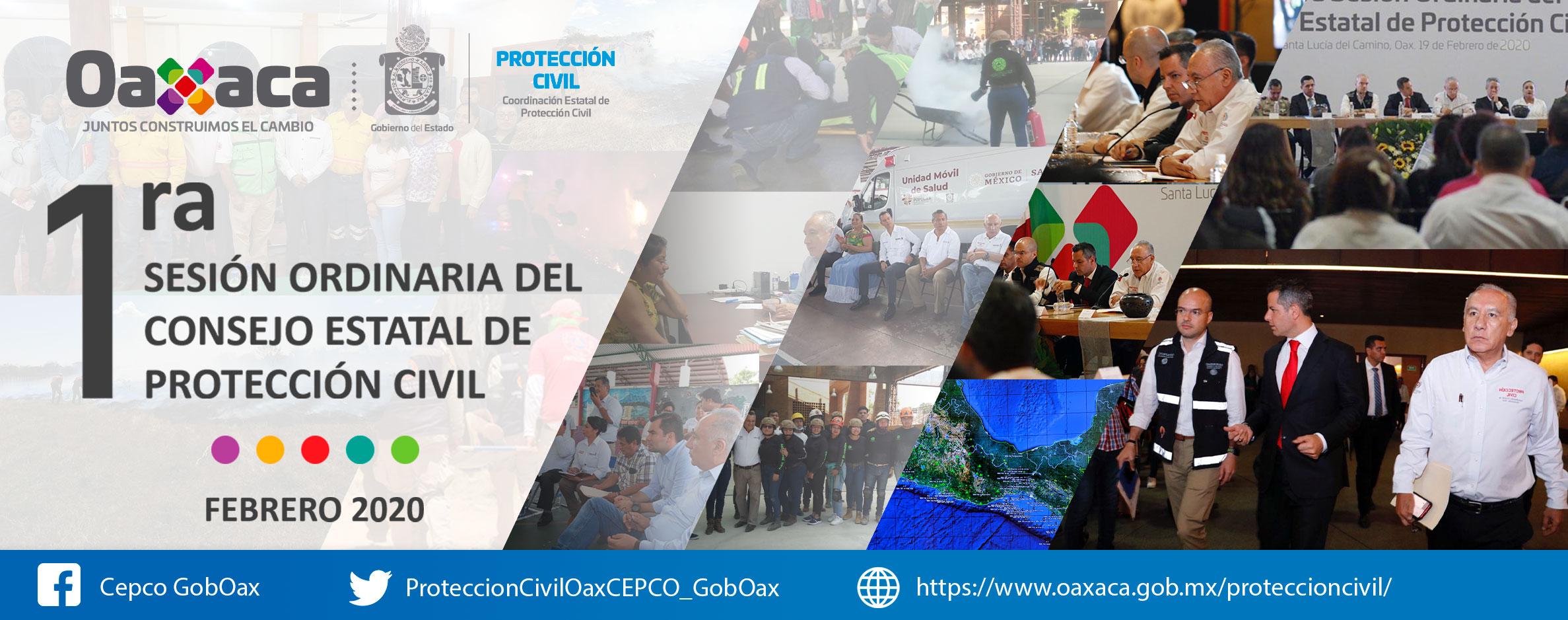 1era Sesión Ordinaria de Consejo Estatal de Protección Civil de Oaxaca
