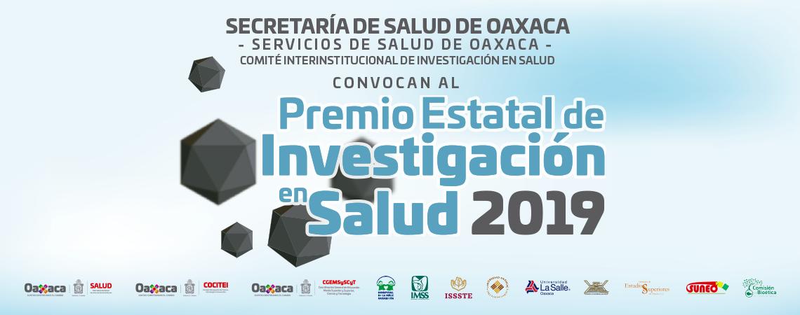 Premio Estatal de Investigación en Salud 2019.