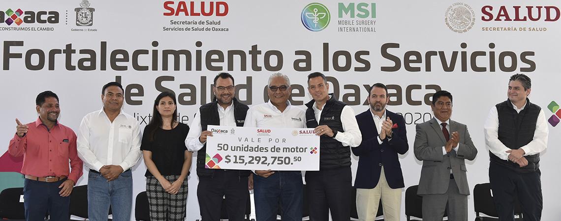 Gobierno del Estado fortalece los Servicios de Salud de Oaxaca.