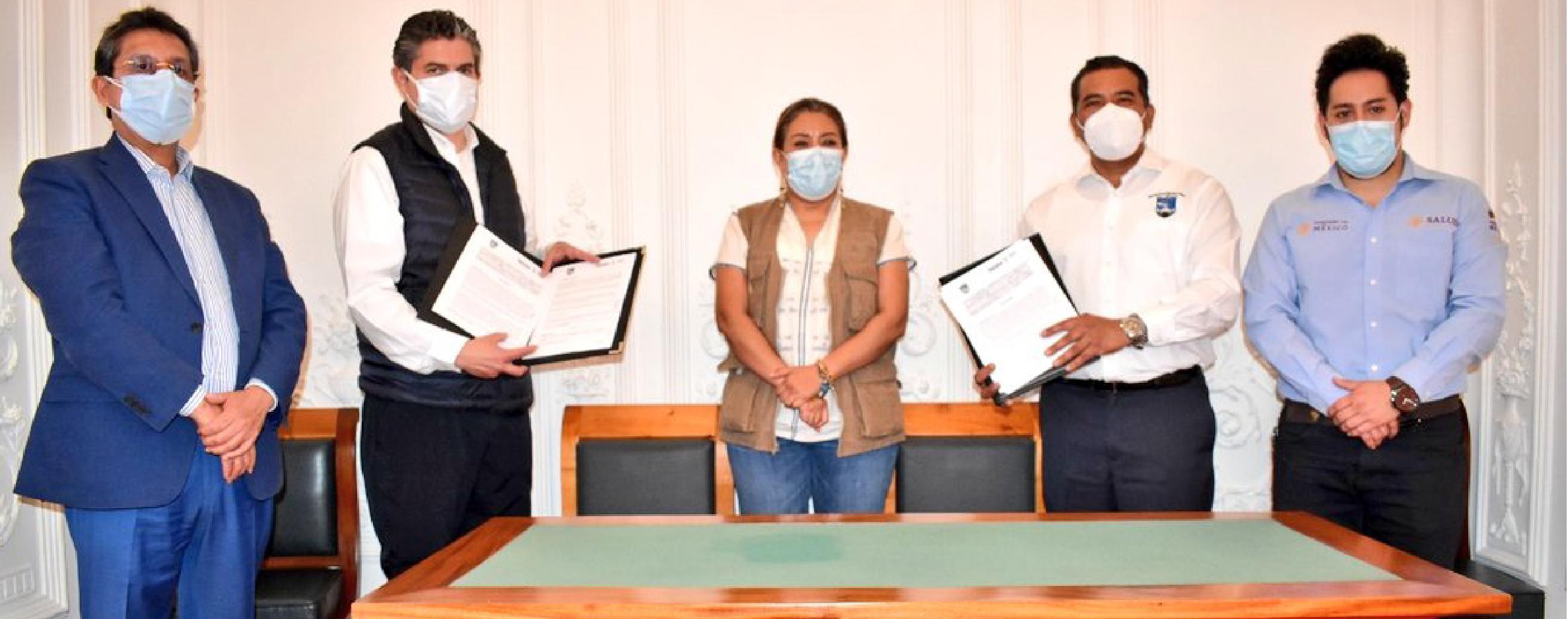Signan convenio SSO-UABJO  para resguardo de vacunas de Pfizer-BioNTech.