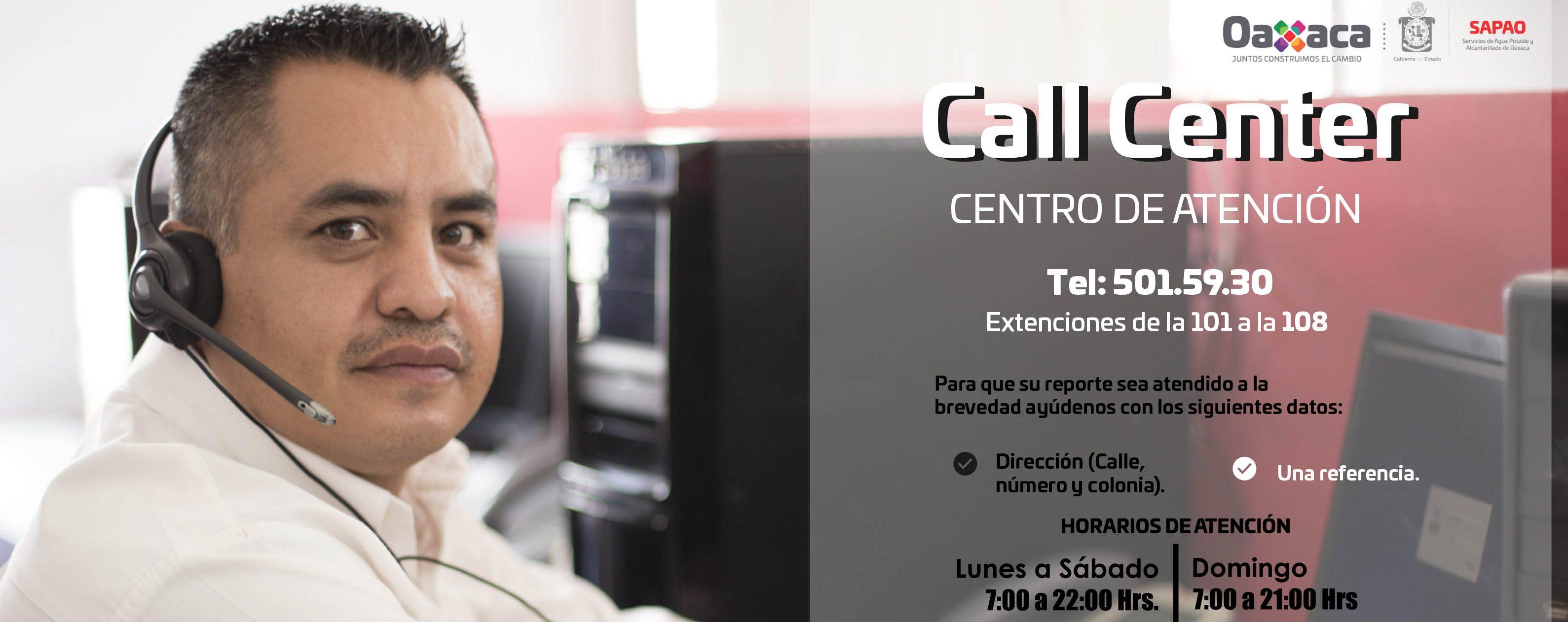 Centro de Atención – Call Center
