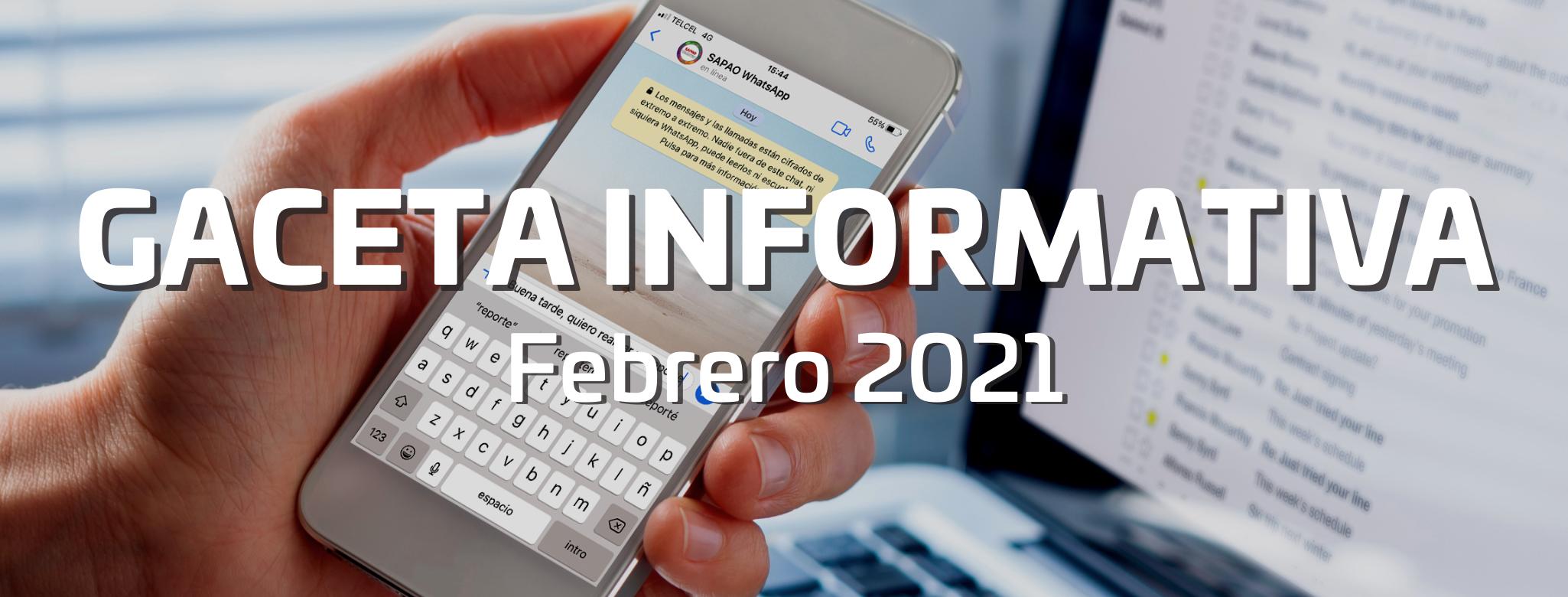 Gaceta informativa febrero 2021