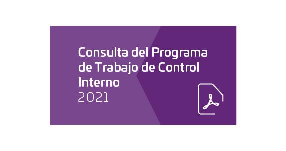 Programa de Trabajo de Control Interno 2021