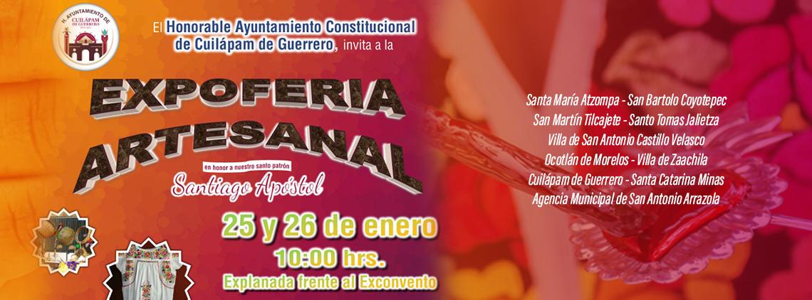 Expoferia Artesanal, en honor a Santiago Apóstol en Cuilapan de Guerrero