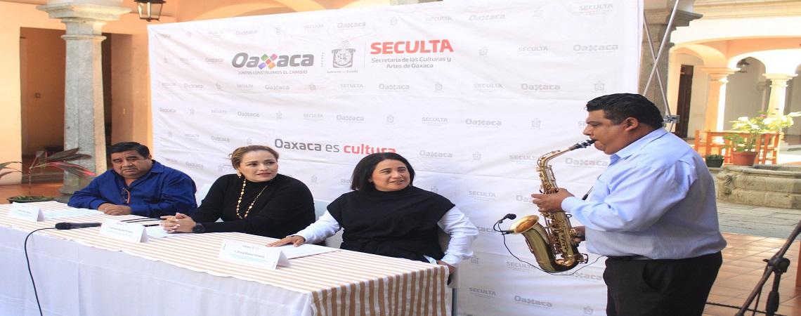 Anuncia Seculta actividades por el Día del Músico en Oaxaca