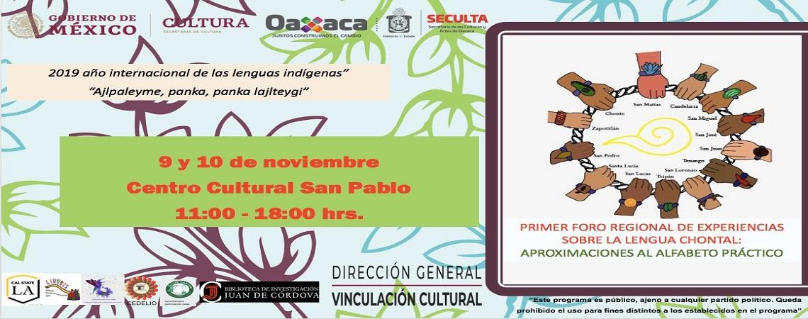 Invita Seculta al Primer Foro sobre lengua chontal en Oaxaca