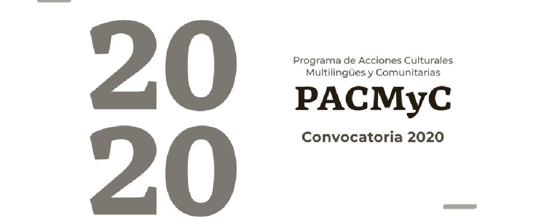 Resultados convocatoria PACMYC