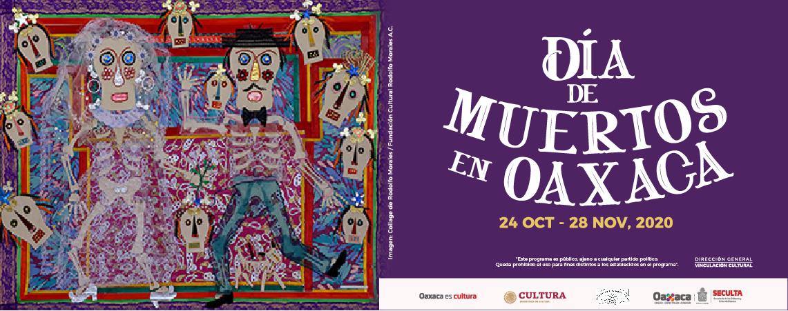 """Programa de actividades virtuales """"Día de Muertos en Oaxaca"""" 2020"""