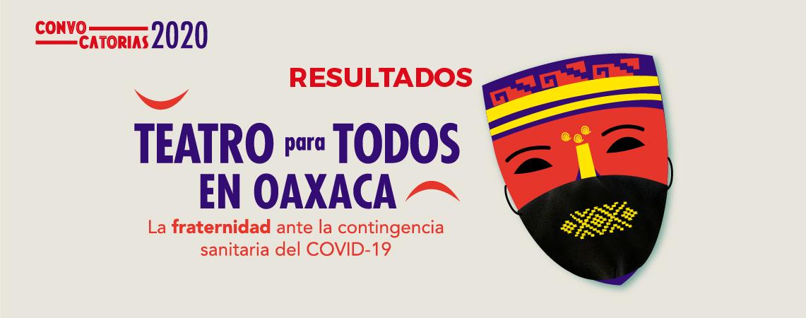 Resultados de la Convocatoria Teatro para todos en Oaxaca
