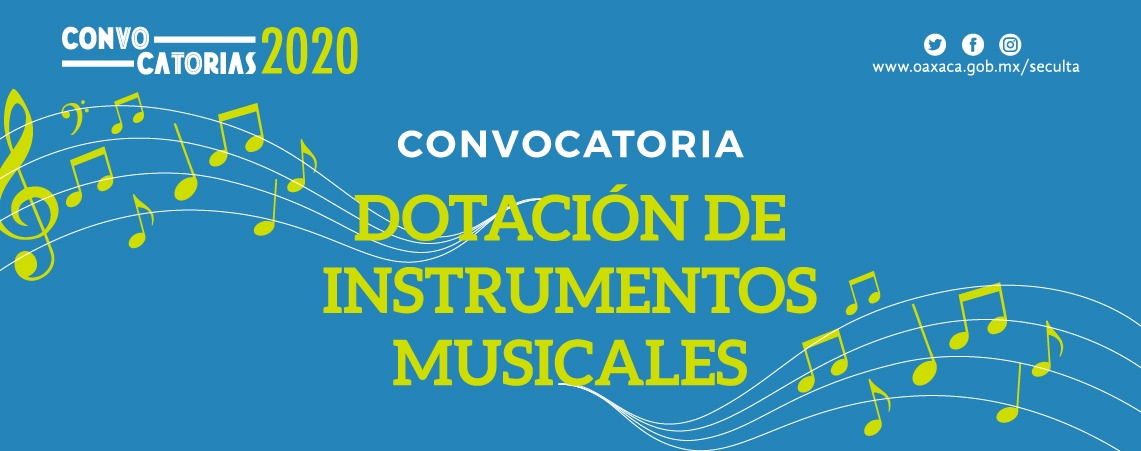 Convocatoria Dotación de Instrumentos Musicales 2020