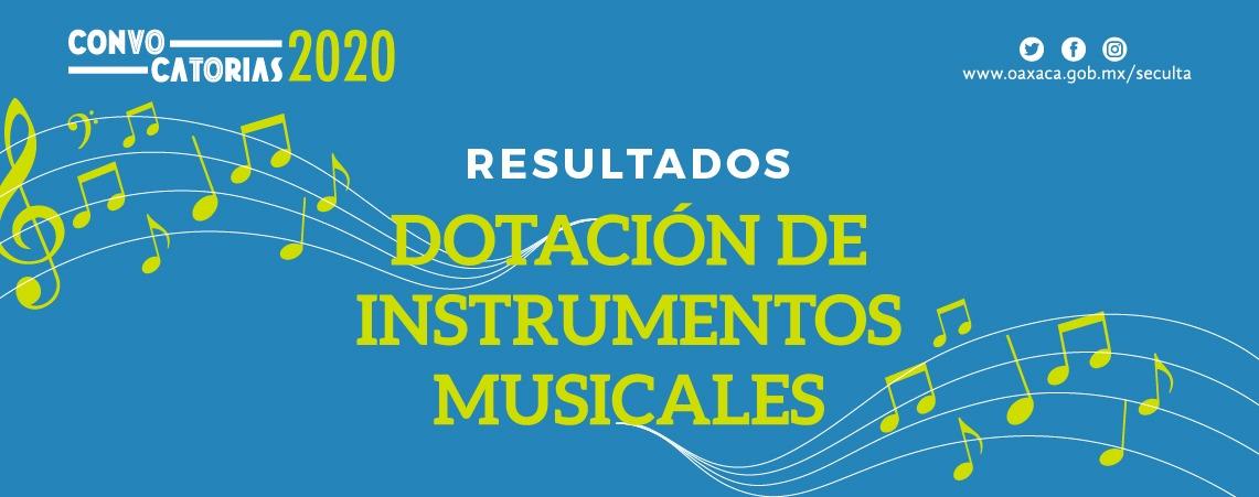 Resultados de la Convocatoria Dotación de Instrumentos