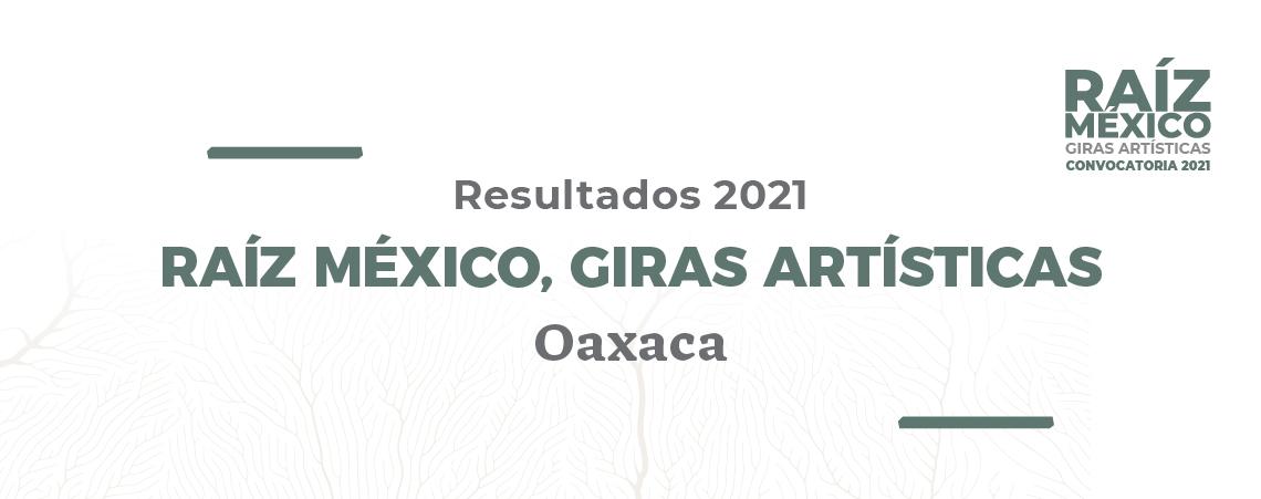 """Resultados de Convocatoria """"Raíz México: Giras artísticas Oaxaca"""""""