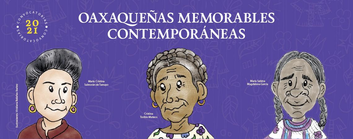 Resultados de Convocatoria Oaxaqueñas Memorables Contemporáneas