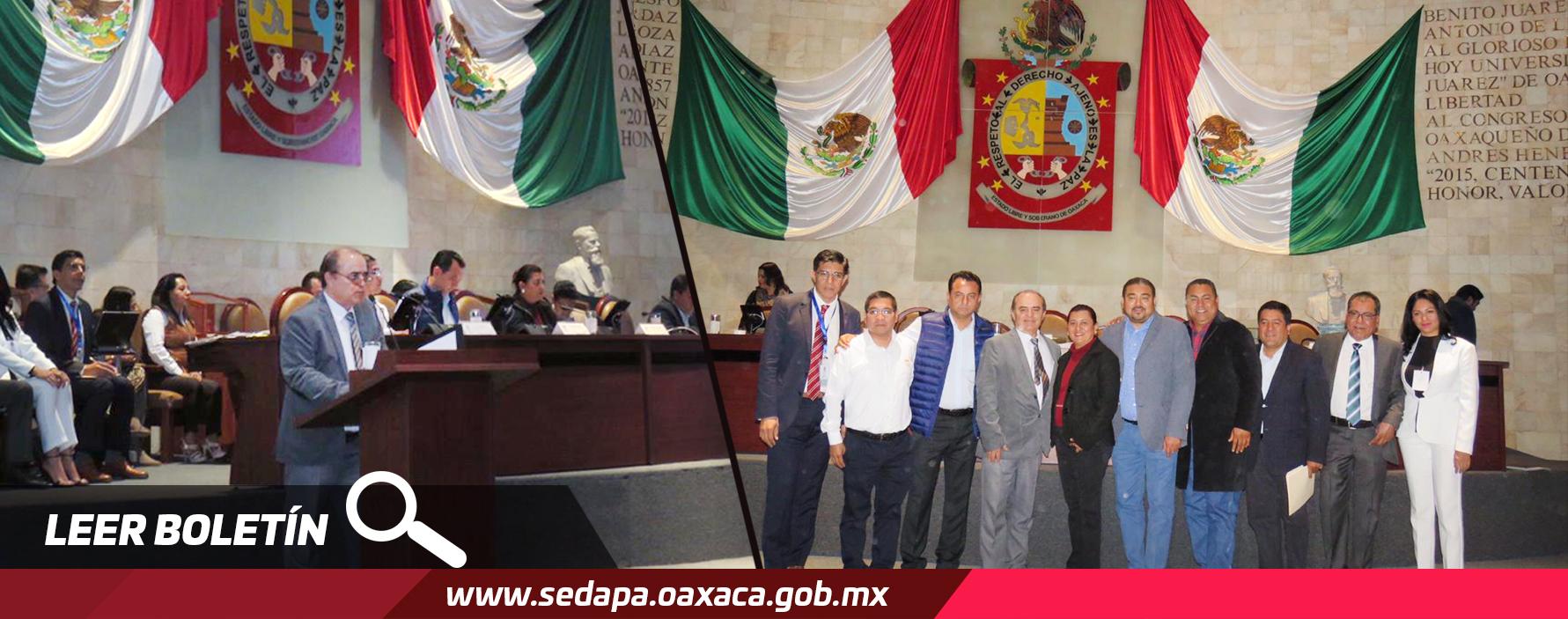 El Secretario de Desarrollo Agropecuario, Pesca y Acuacultura (Sedapa), Carlos Grau López, compareció ante integrantes del Congreso Local