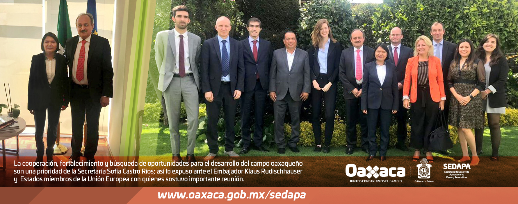El Gobierno del Estado de Oaxaca a través de la SEDAPA fortalece lazos en materia agropecuaria con representantes de la Unión Europea.
