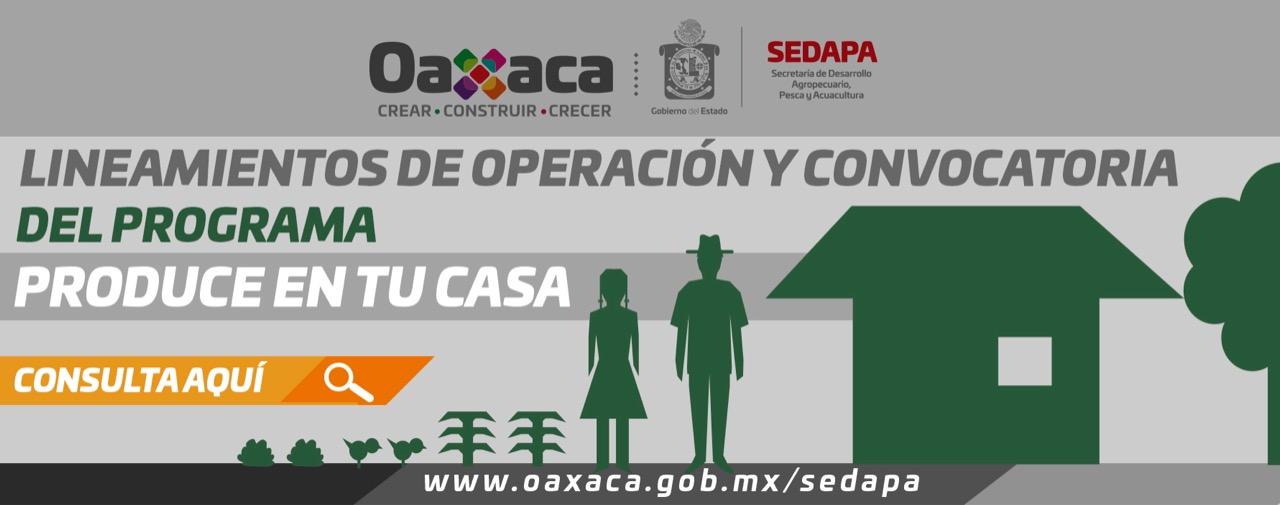Programa Produce en tu Casa en el Estado de Oaxaca