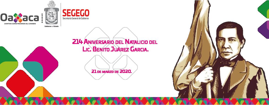 Ceremonia del 214 Aniversario del Natalicio del Benito Juárez