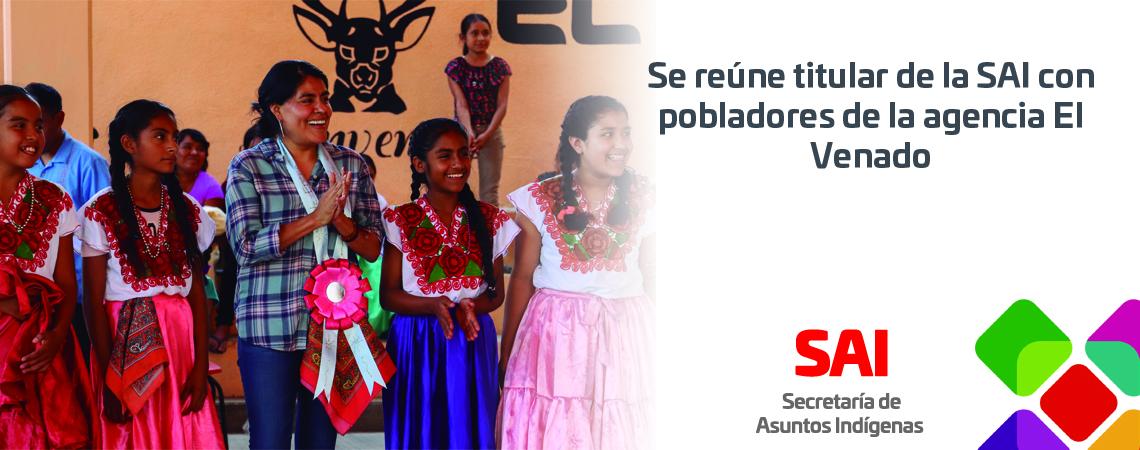 Se reúne titular de la SAI con pobladores de la agencia El Venado.