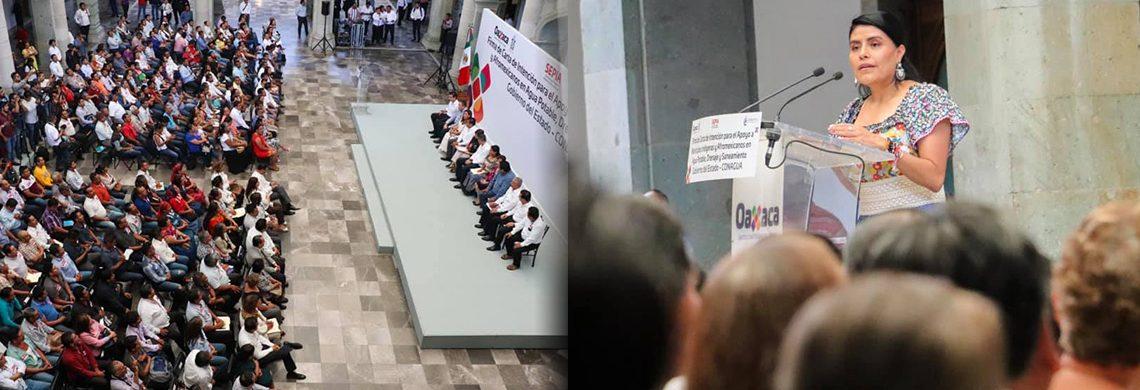 Hacer realidad el derecho al agua; compromiso del Gobierno de Oaxaca