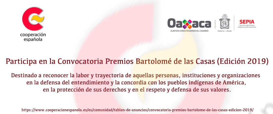 Convocatoria Premios Bartolomé de las Casas (Edición 2019)