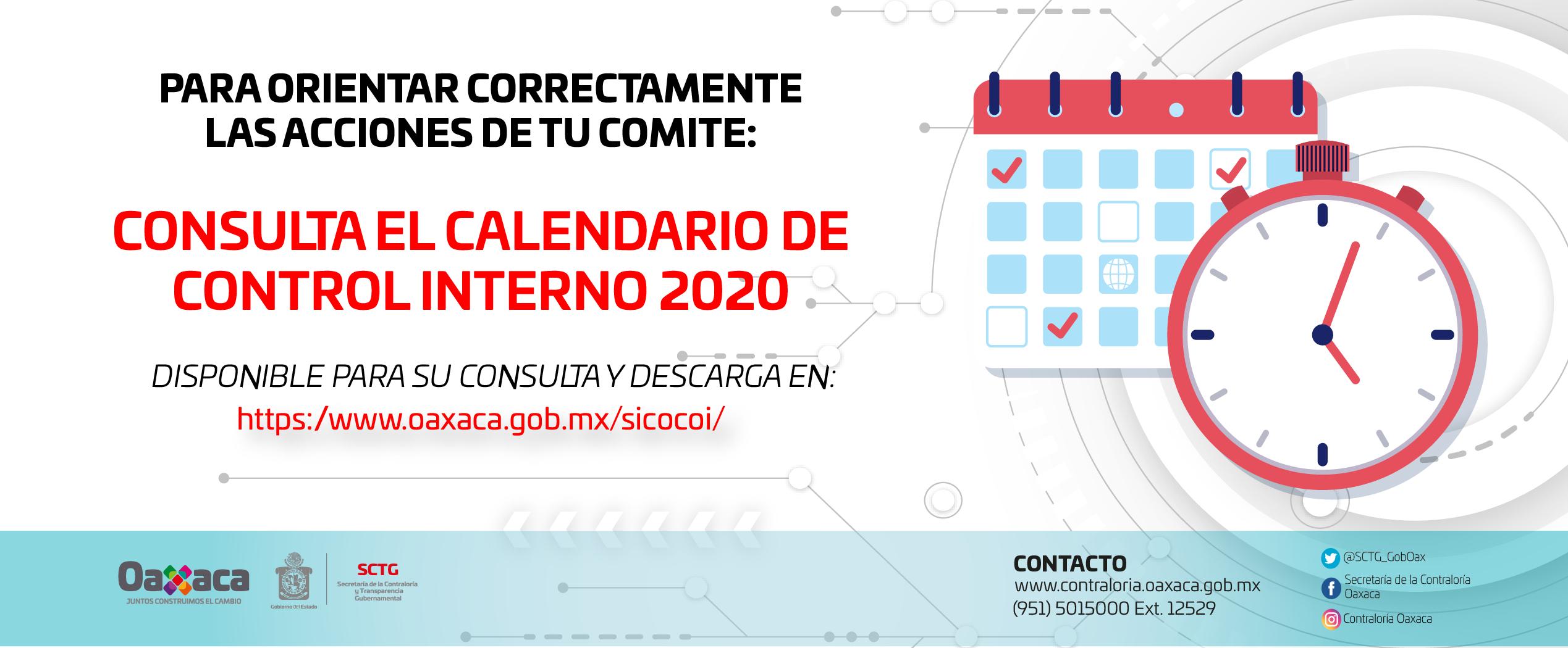 Calendario COCOI DCIGP 2020