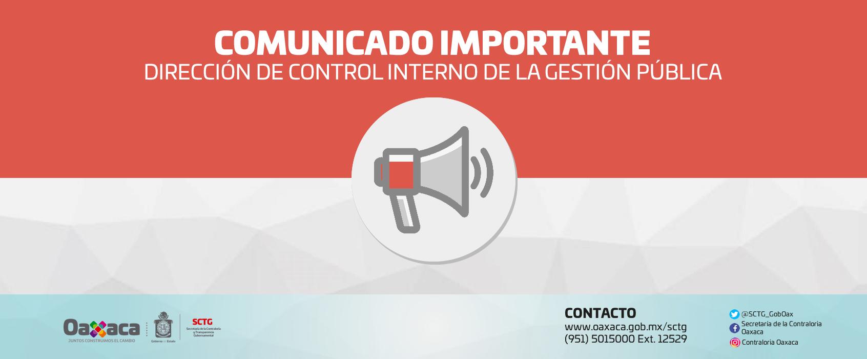 Comunicado Importante DCIGP