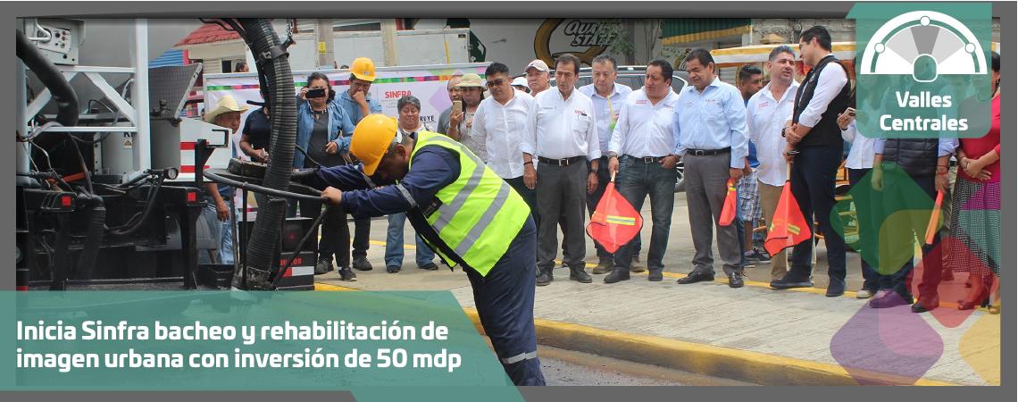 Inicia Sinfra bacheo y rehabilitación de imagen urbana con inversión de 50 mdp