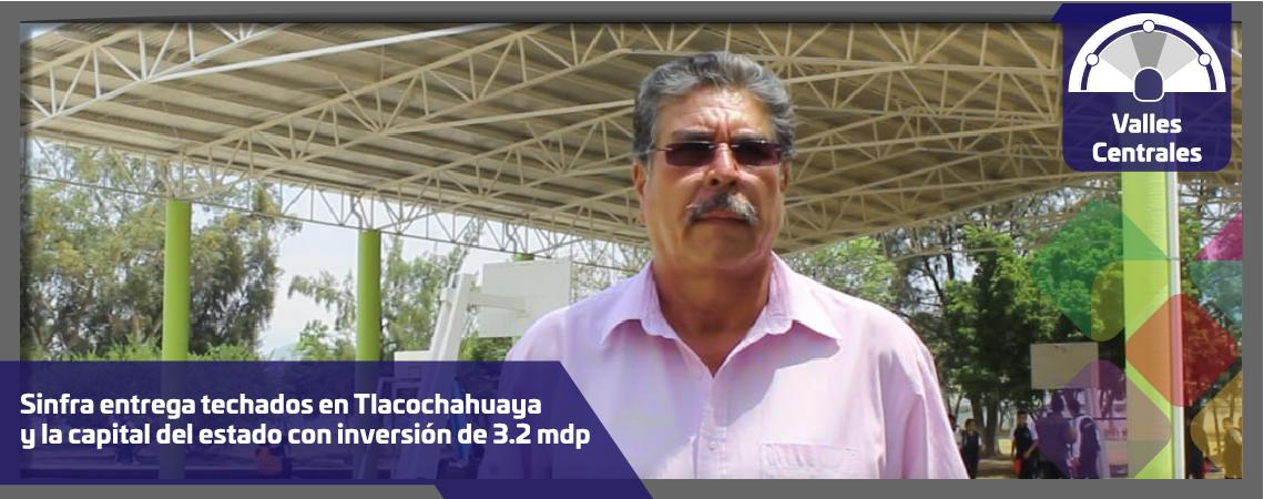 Sinfra entrega techados en Tlacochahuaya y la capital del estado con inversión de 3.2 mdp