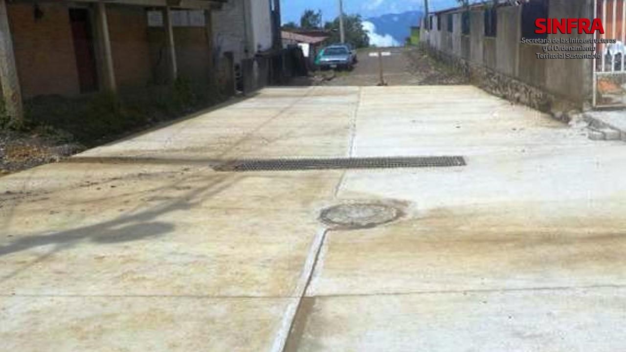 Santa María Yucuite- pavimentación