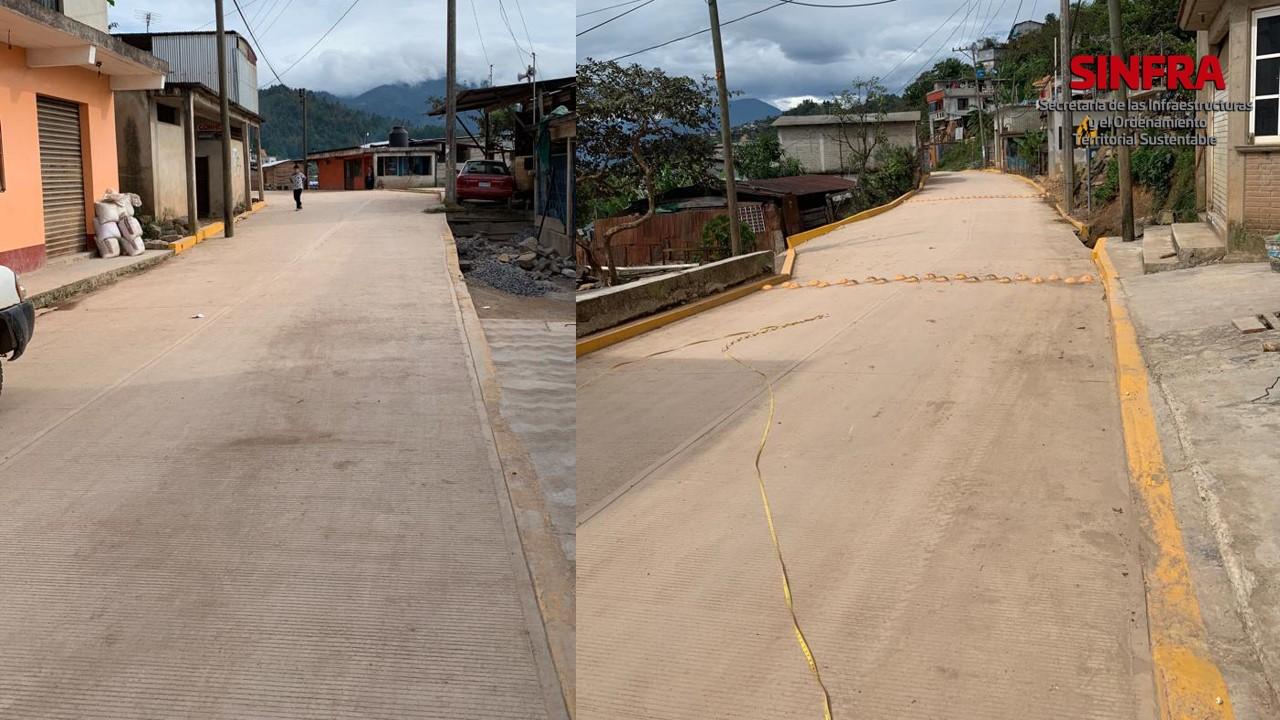 Avenida Quetzaltepec, localidad de San Miguel Quetzaltepec.