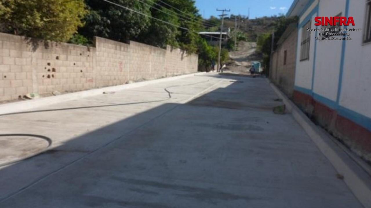 Calles 4ta. Norte y 6ta. Poniente. Santa María Jalapa del Marqués.