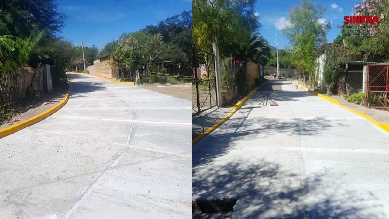 Pavimentación Rojas de Cuahtémoc