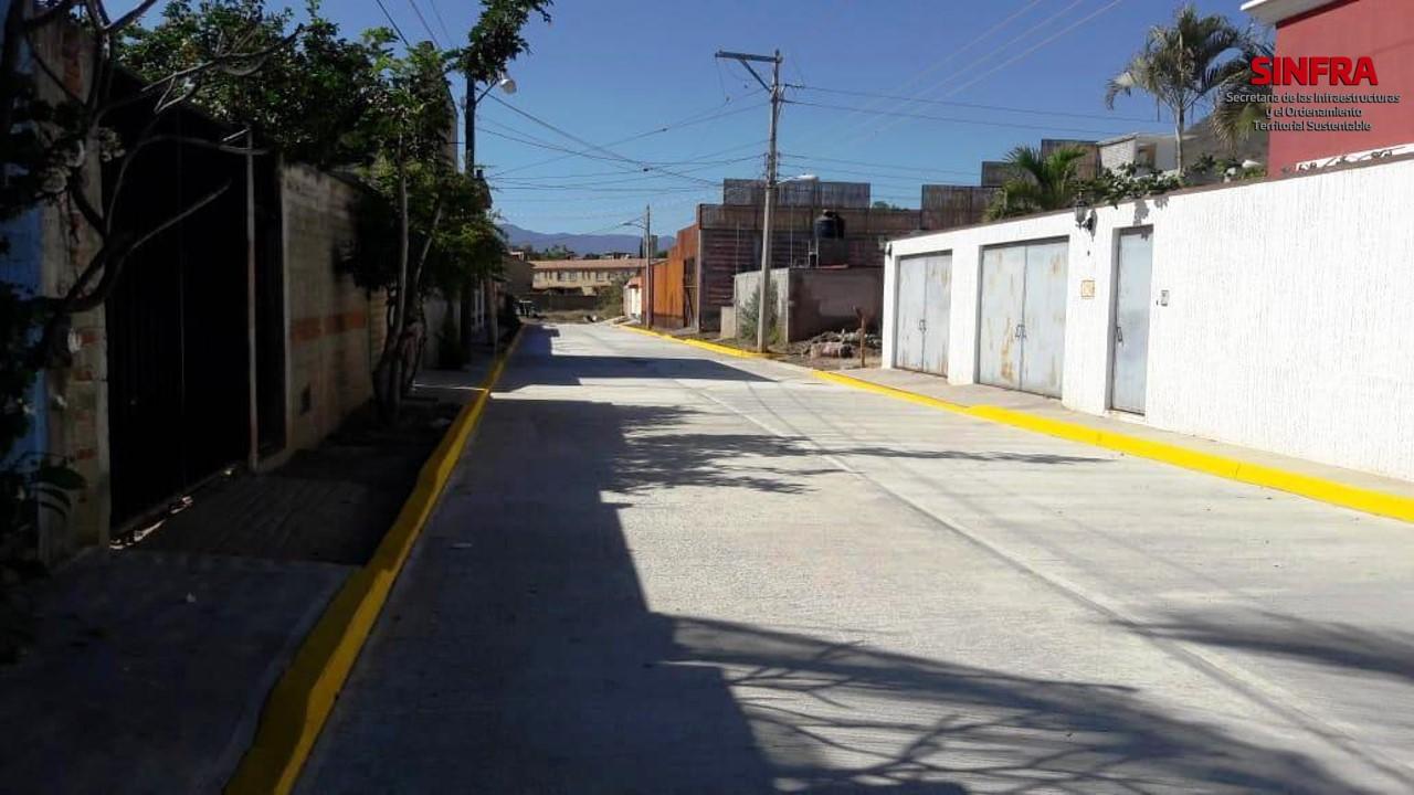 Pavimentacion calle Mixteca Xoxocotlán