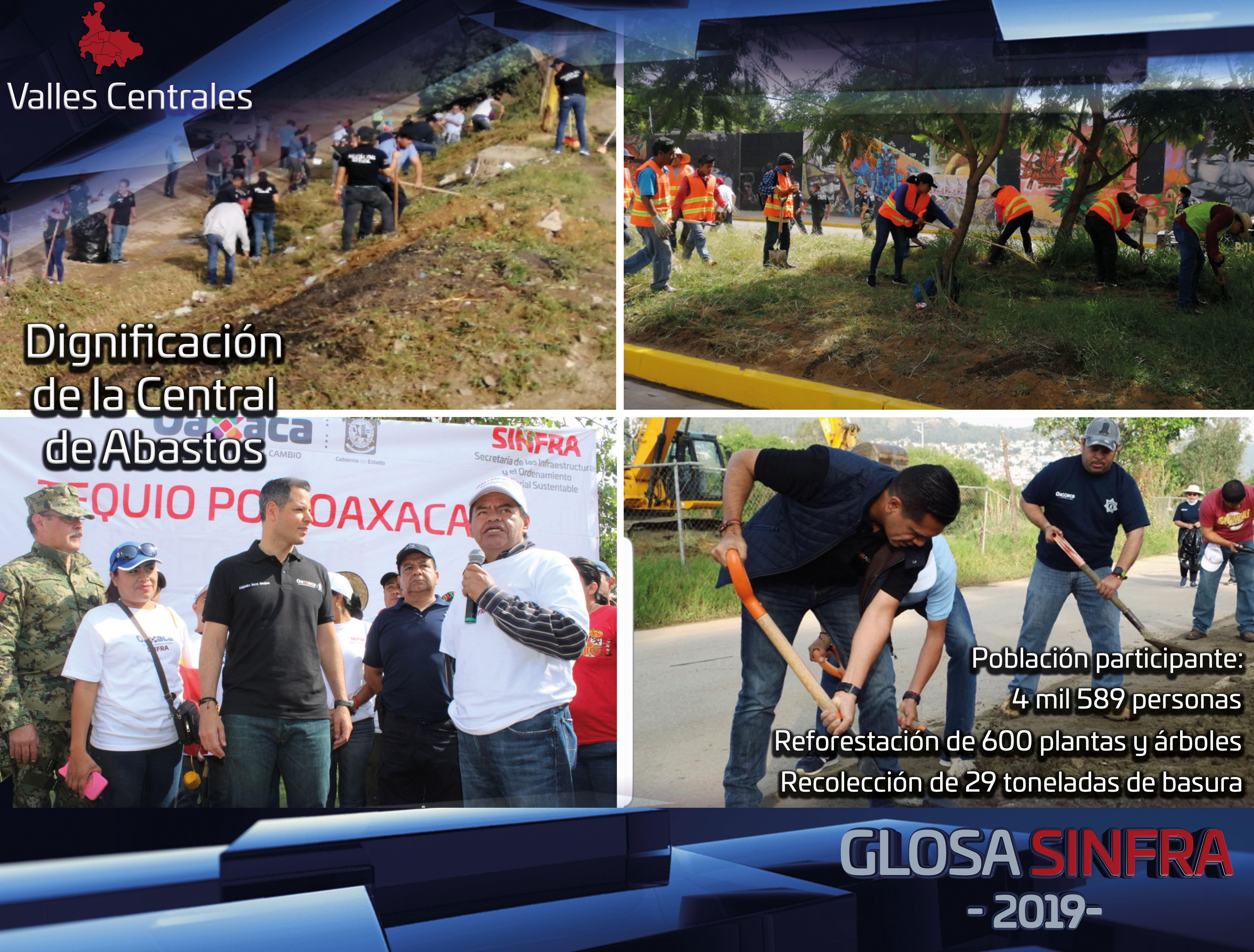 Para el gobierno de Alejandro Murat Hinojosa la dignificación y rescate de la zona de la Central de Abasto es prioritario.