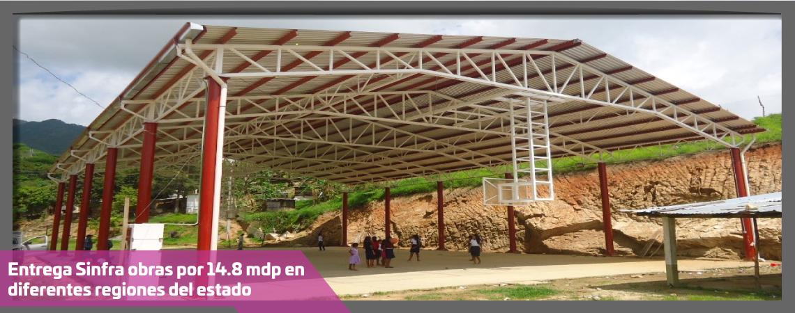 Entrega Sinfra obras por 14.8 mdp en diferentes regiones del estado