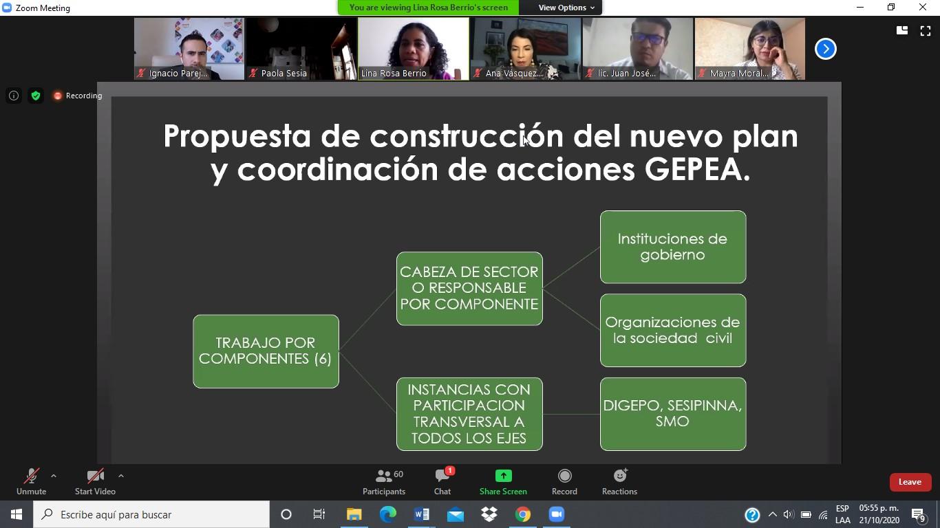 21oct2020 Trabajo Interinstitucional en Prevención de Embarazo en Adolescentes
