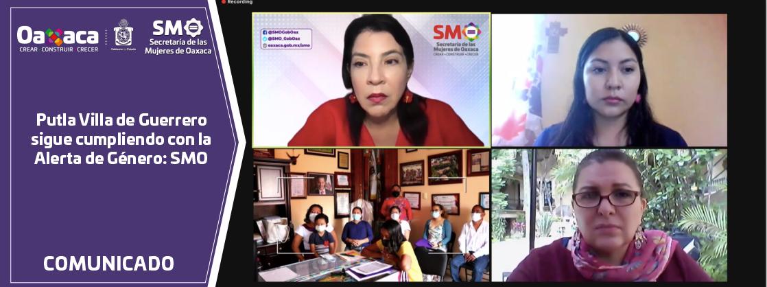Putla Villa de Guerrero sigue cumpliendo con la Alerta de Género: SMO